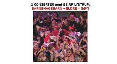 Plakat for konserter med Geirr Lystrup