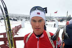 Henrik L-Abee-Lund under IBU Cup på Beitostølen 2014. Foto: Norges Skiskytterforbund.
