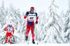 Ingvild Flugstad Østberg underveis i verdenscupåpningens 10 km i klassisk stil i Kuusamo 2014. Foto: Laiho/NordicFocus.