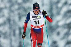 Pål Golberg ute i sprintprolog under verdenscupen i Kuusamo 2014. Foto: Felgenhauer/NordicFocus.