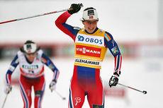 Marit Bjørgen var suverent best på sprinten som åpnet minitouren under verdenscupen på Lillehammer 2014. Foto: Felgenhauer/NordicFocus.