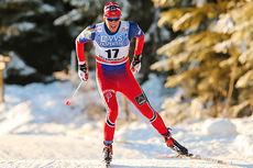 Chris Jespersen på vei mot en solid 6. plass på 10 km fri under verdenscupen på Lillehammer 2014. Foto: Laiho/NordicFocus.