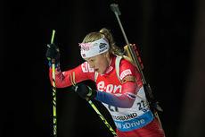 Fanny Welle-Strand Horn på normaldistansen under verdenscupen i Östersund 2014. Foto: Manzoni/NordicFocus.