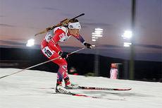 Synnøve Solemdal ute på 7,5 km sprint under verdenscupen i Östersund 2014. Foto: Manzoni/NordicFocus.