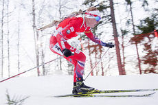 Johannes Thingnes Bø ute på 10 km sprint i skiskytternes verdenscup i Östersund 2014. Foto: Manzoni/NordicFocus.