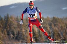 Finn Hågen Krogh ute på 10 km fristil under minitouren i verdenscupen på Lillehammer 2014. Totalt ble han nummer 2, kun slått av Martin Johnsrud Sundby. Foto: Geir Nilsen/Langrenn.com.