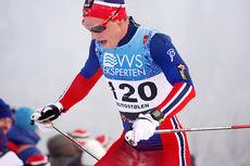 Mathias Rundgreen på vei opp danskebakken under Beitosprintens 15 km fristil 2014. Foto: Geir Nilsen/Langrenn.com.