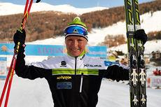 Riitta-Liisa Roponen fra Finland toppet første renn i FIS Marathon Cup 2014-2015, fristilsutgaven av La Sgambeda i Livigno og Italia. Foto: Felgenhauer/NordicFocus.