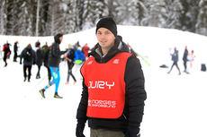 Cato-André Granseth var leder for den lille, men effektive arrangørstaben i forbindelse med de tre store rennene på Lillehammer under Skandinavisk Cup, Norgescup og VM-mønstring for juniorer i desember 2014. Foto: Erik Borg.