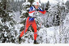 Hallvard Løfald på 15 km klasssik under Beitosprinten 2014, der rindalingen gikk inn til 12.-plass. Foto: Erik Borg.