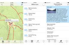 Skjermdump fra Skiforeningens app iMarka.