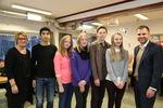 Elever Vestmyra prosjekt besøk fra stortinget