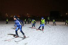 For løperne fra IL Koll i Oslo skulle det ikke mye snø til før skiene ble funnet frem i julestria 2014. Foto: Hans Olav Hamran.