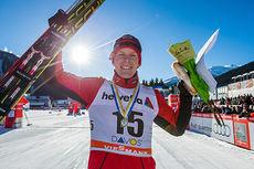 Anders Gløersen kom inn som reserve til 15 km fri under verdenscupen i Davos 2014, og toppet like godt hele rennet. Foto: Laiho/NordicFocus.
