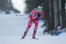 Erlend Bjøntegaard er en av de norske representantene i U26-EM. Her ute på herrenes sprint under verdenscupen i Pokljuka 2014. Foto: Manzoni/NordicFocus.