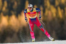Marit Bjørgen vant sprintprologen i fri teknikk i Davos 2014. Foto: Laiho/NordicFocus.