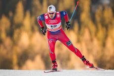 Sondre Turvoll Fossli på vei mot beste tid på sprintprologen i fri teknikk under verdenscupen i Davos 2014. Foto: Laiho/NordicFocus,