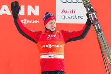 Finn Hågen Krogh etter tredjeplassen på fristilssprint under verdenscupen i Davos 2014. Foto: Laiho/NordicFocus.