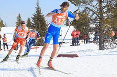 Illustrasjonsbilde fra femmila under NM på Gålå 2014, med Mads Ek Strøm i front. Nærmest følger Torgeir Skare Thygesen, og deretter Petter Northug jr. Foto: Erik Borg.