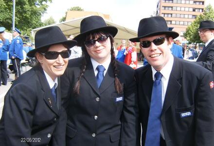 Marianne, Merethe og Tom i Bad Bramstedt, juni 2012