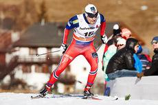 Eldar Rønning på sprinten i Val Müstair, tredje etappe av Tour de Ski 2015. Foto: Felgenhauer/NordicFocus.