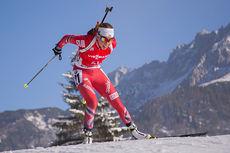 Elise Ringen under verdenscupen i Hochfilzen like før jul i 2014. Foto: Manzoni/NordicFocus.