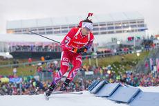 Ole Einar Bjørndalen på vei mot 2. plass på sprinten under verdenscupen i Oberhof 2015. Foto: Manzoni/NordicFocus.