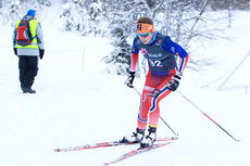 Tiril Udnes Weng underveis på 5 km fristil i klasse 19-20 år under norgescupen på Lygna 2015. Foto: Erik Borg.