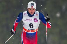 Tomas Northug på vei inn til sin første verdenscupseier i Otepää forrige vinter. Foto: Laiho/Nordicfocus