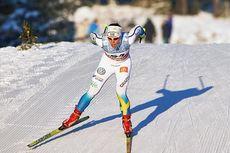 Charlotte Kalla under verdenscupen på Lillehammer i 2014. Foto: Felgenhauer/Nordicfocus