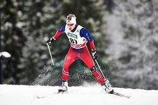 Simen Hegstad Krüger i aksjon under verdenscupen på Lillehammer 2014. Foto: Felgenhauer/NordicFocus.