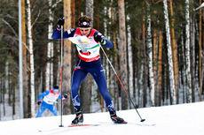 Hans Jørgen Kvåle underveis i et skiorienteringsløp. Foto: Norges Orienteringsforbund.