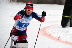 Mariann V. Marthinsen på vei mot sølv på sprinten under VM i Cable, USA 2015. Foto: Anne Ragnhild Kroken.