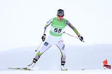 Marit Bjørgen på vei mot 2. plass etter Therese Johaug under Ski-NM på Røros 2015. Foto: Geir Nilsen/Langrenn.com.