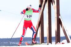 Anders Nøstdahl Gløersen på vei mot seier på 15 km fri teknikk i de tøffe løypene under NM på Røros 2015. Foto: Geir Nilsen/Langrenn.com.