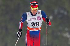 Timo André Bakken i aksjon under verdenscupen i Otepää i midten av januar 2015. Foto: Laiho/NordicFocus.