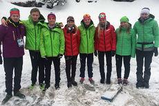 Den norske troppen i Europeisk Ungdoms-OL. Foto: Stig Moland.