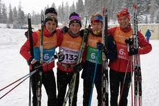 Det norske stafettlaget som ble nummer 7 i Student-OL 2015. Foto: Kjersti Bach.