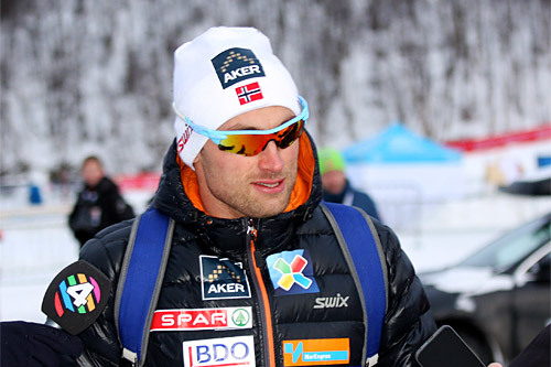 Petter Northug etter at han sikret seg en 6. plass på NM-sprinten i klassisk stil under mesterskapet på Røros 2015. Foto: Geir Nilsen/Langrenn.com.