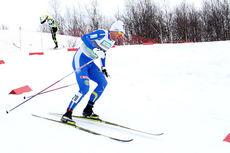 Petter Northug ute i et av heatene under sprinten i ski-NM på Røros 2015. Til slutt ble han nummer 6. Foto: Geir Nilsen/Langrenn.com.