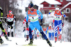 Martin Johnsrud Sundby ute i klassisk-delen av 30 km skiatlon under NM på Røros 2015. Han brøt senere rennet. Foto: Geir Nilsen/Langrenn.com.