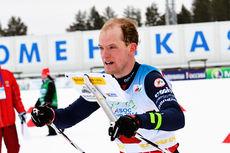 Lars Hol Moholdt underveis i et skiorienteringsløp. Foto: Norges Orienteringsforbund.