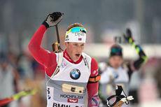Lars Helge Birkeland under verdenscupen i Hochfilzen 2014. Foto: Manzoni/NordicFocus.
