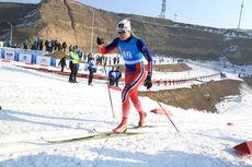 Julie Myhre i sprintprologen under Junior-VM i Almaty og Kasakhstan 2015. Foto: Erik Borg.
