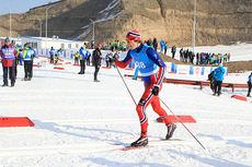 Mattis Stenshagen i sprintprologen under Junior-VM i Almaty og Kasakhstan 2015. Foto: Erik Borg.