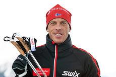 Anders Aukland i forbindelse med åpningen av Swix Ski Classics 2014/2015 i Livigno like før jul. Foto: Felgenhauer/NordicFocus.