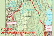 Løypekart for KollmilaOpp.