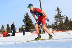 Aksel Rosenvinge i aksjon under Norgescupen for junior på Gålå i 2014. Foto: Erik Borg.