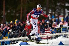 Ola Vigen Hattestad var 2 hundredeler fra bestetid på sprintprologen under VM i Falun 2015. Foto: NordicFocus.