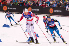 Ola Vigen Hattestad ute på VM-sprinten 2015 i Falun. Da dagen var omme hadde han sikret seg nok en mesterskapsmedalje, nå i form av bronse. Foto: NordicFocus.